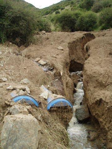 Blue barrel culvert blow-out Great Expectations
