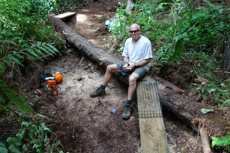 Paul Whitakker saw the potential in a fallen log - that's gotta be worth at least 50 points, right?