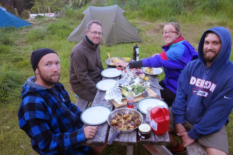 The Motley Crew enjoying a fine feast.
